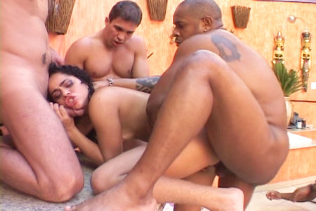 Hot Latina in hardcore gangbang from Bang Me Boys