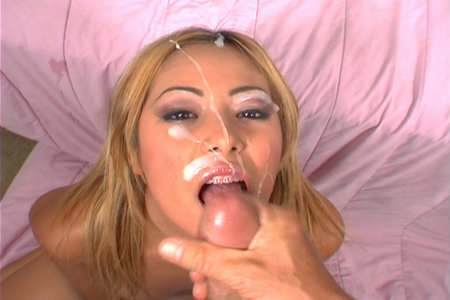 Young babe Kat gets pounded up the ass before receiving a goo blast on the face