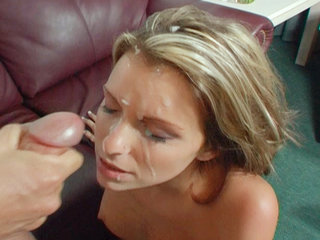 Stunning brunette has her ass filled and her face blasted