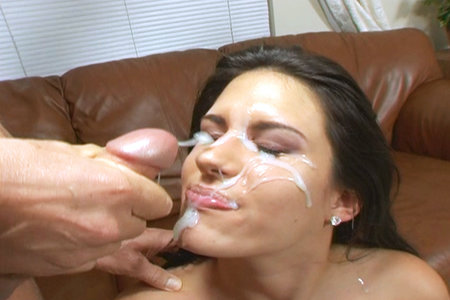 Hot brunette gets Peter Norths massive cumshot from Club Peter North