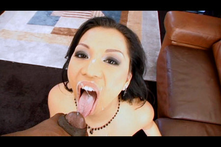 Black cock in Asian pussy from Lex POV