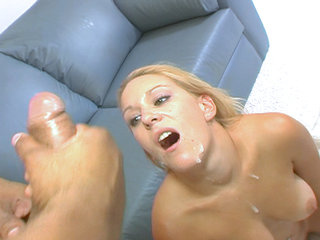 Erin Moore sucks and fucks and gets a 2 on 1 facial