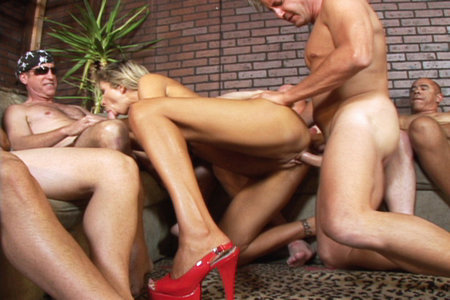 Hot Morgan Ray in some wild group blowjob action from Cover My Face