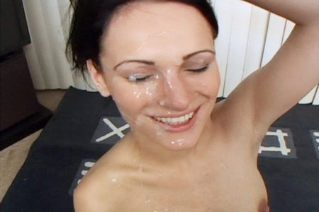 Victoria Sin facialized by Peter Norths unnaturally massive cock and cum loads