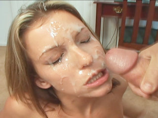 Courtney Cummz facialized by big cocks after getting her throat stretched