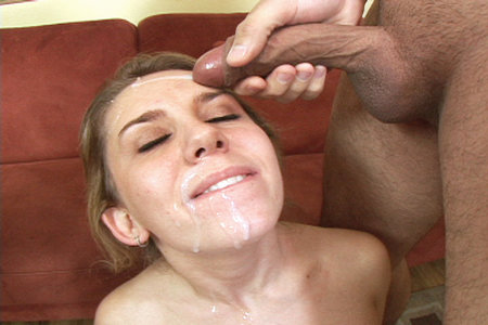 Hot Allie gets a face full of thick cum from Cover My Face
