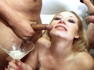 Cum drinking sluts - Cum drinking sluts in action from this all cumshot series