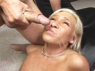 Facial Cumshot : Kacey Jordan looking fine as fuck and horny for dick!