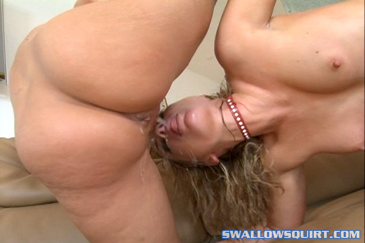 lesbian squirt swallowing