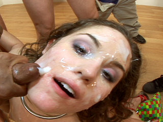 Facial Cumshot : Charlotte proves how addicted to penis butter she really is!