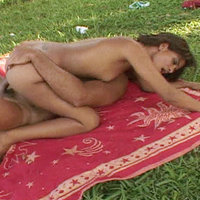 Nice outdoor action with a horny Latin slut