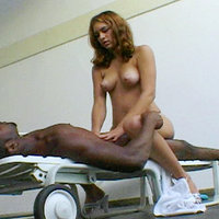 Latina pussy pounded from behind by a throbbing black meat stick