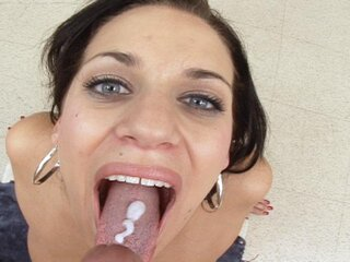 Cock Sucking Amateur - Cock Sucking Amateur Gets Mouth Stuffed With Some Big Dick