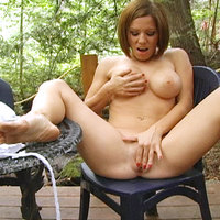 Kream rubs pussy for squirt session in the middle of the woods 1. Real Squirt V11882
