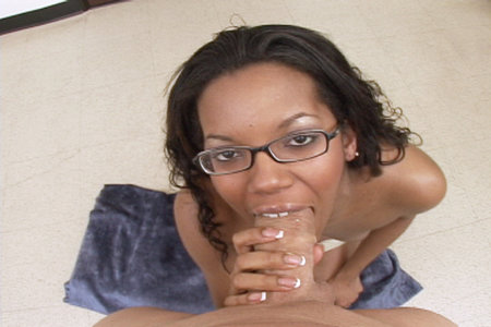 Amateur ebony babe Strokahantas gives a hot blowjob before swallowing cum from Load My Mouth