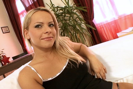 Euro blonde Sunny gets nailed by a massive shaft for the first time in these video clips
