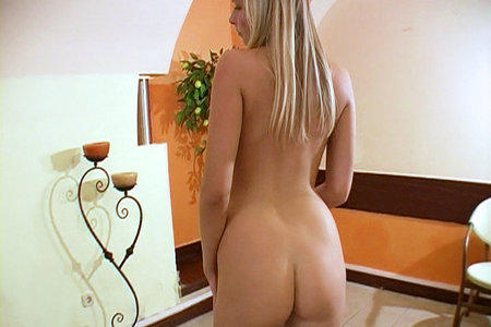 Young Euro babe Anna practically inhales Toni Ribas' cock in her first ever Porn Appearance from First Sex Video