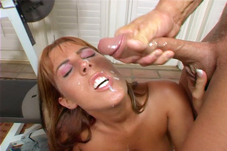 Young slut April Rain gets her pussy pounded by a massive 11-inch cock