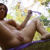Kream squirts juice in woods after toying her sweet young pussy 4. Real Squirt V12429