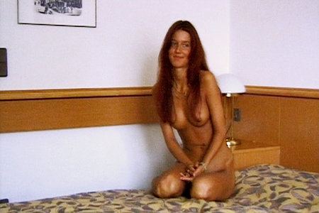 Red haired Lydia wants to be pornstar in amateur video from First Sex Video