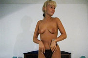 Lovely Gabriella Bond covered in cum in this old movie from First Sex Video