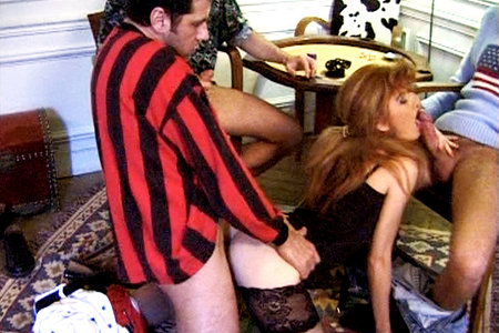 Hot French redhead Fovea sucks and fucks big dicks on camera in her first ever Porn Scene