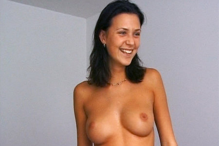 Busty babe auditions for Private from First Sex Video