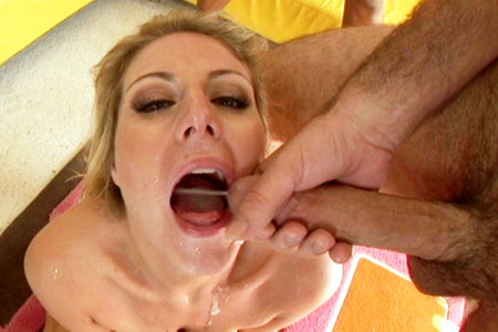 Velicity Von blowbanged by guys before swallowing all their loads one by one from Jizz Mouth Wash