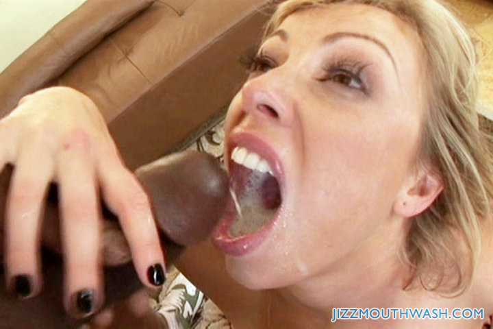 girl swallows lots of cum