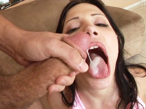 Tight latina nailed from behind by a group of guys before they unload in her mouth