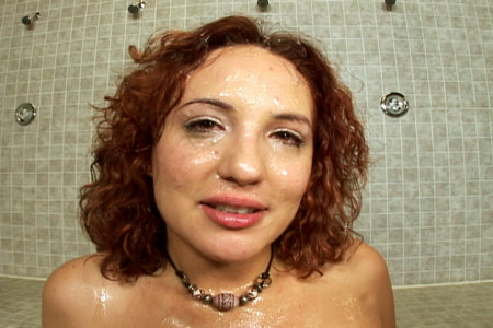 Hot redhead Bukkake Facial videos with Jersey Cummings