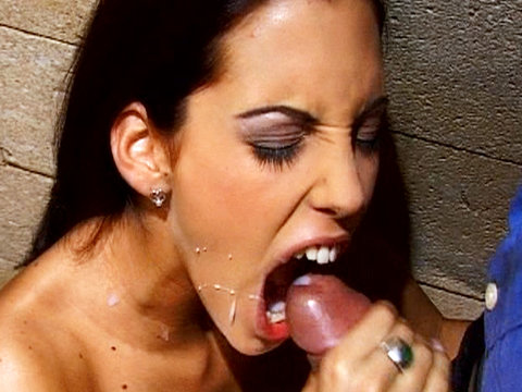 Slut sucks cock
