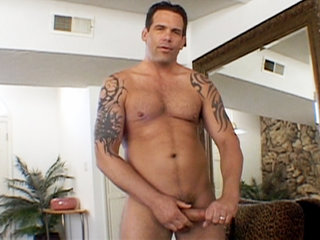 Gay Solo Masturbation : delicious man rooster Delaware starts working his large thick junk!