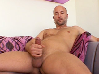 Gay Solo Masturbation : Bryan Baxton Jerks His sex stick Before Shooting His Hot Wad All Over His Own Stomach!