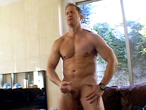 11 Gay Daddy Pissing   Spencer Slade jerks off his big cock before blowing a load all over himself Blacks On Boys