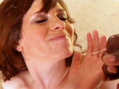 Lascivious milf make love cruel by a huge cock. Horny Milf have sexual intercourse heavy by a huge black beast of a tool