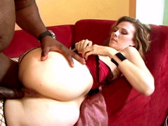White milf slut gets make love. White Milf slut Gets make love heavy by an ebony monster penish
