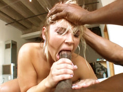 Slutty white butthole gets make love. Slutty white anal gets have intercourse by a big black cock