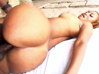 Hot chick gets stuffed full of black shaft and sucks cock.
