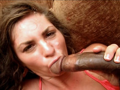 Naomi gets facialized after have sexual intercourse. Naomi gets facialized after fuck a throbbing black tool and getting her vagina crammed full