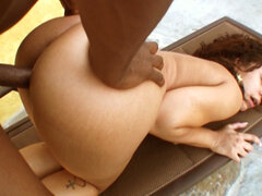 Chyanna jacobs nailed from behind Chyanna Jacobs nailed from behind in between the big oiled up bum cheeks.