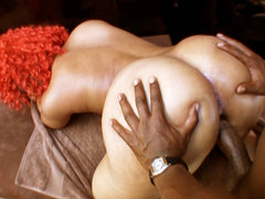 Ebony beauty nailed from behind. Ebony beauty Luscious Louis gets her cunt nailed from behind by a large black penish