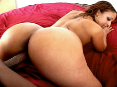 Big anal bounces on black dick. Mya G's great anus bounces on a elegant black penish before she takes some ejaculate to the face