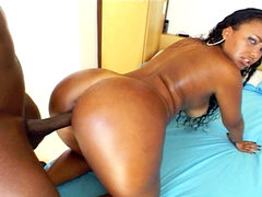 Juicy black pussy gets nailed. Juicy black pussy gets nailed by a considerable black make love pole