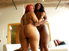 Two fine round asses. Two fine round asses getting completely fuck by Justin Slayer