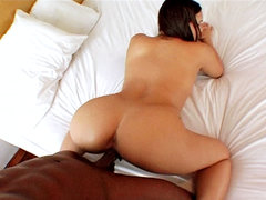 Hot slut gets fuck raw. Hot Latina slut gets have intercourse raw by a huge black knob