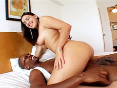 Slutty meagan gets make love massive. Slutty Latina Meagan gets fuck heavy by a huge black tool