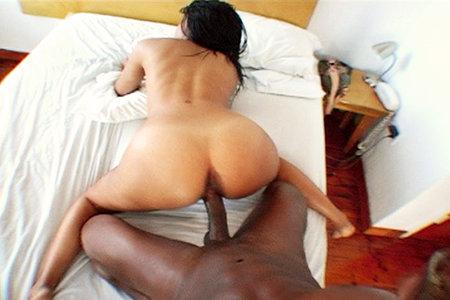 Round ass slut gets pounded hard by a huge black monster shaft