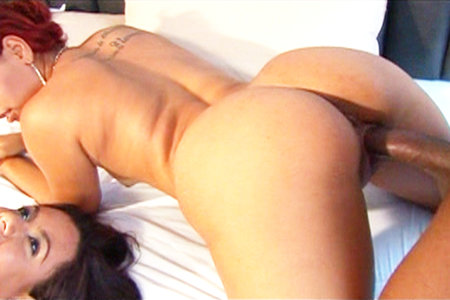 Perfect round ass gets a super hard black dick fucking.