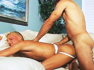 Gay Mature Men : Lexx Parker double anal fucked by Chris Dano and Tom Moore in this clip!